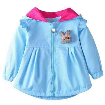 Harga preferensial Gadis Musim Gugur Anak Jaket Musim Dingin Ritsleting Berkerudung Kelinci Telinga Mantel-Intl beli sekarang - Hanya Rp134.390