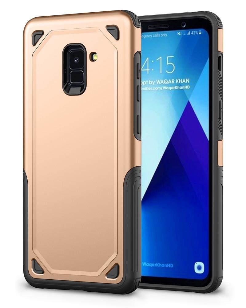 Telepon Case Anda Samsung Galaksi A8 2018 Case Berukir TPU Jatuh Perlindungan Telepon Mahal Ketimbang 2 Seri Lainnya Sarung Anti Guncangan Ramping Belakang Ponsel case (Grey) -Internasional