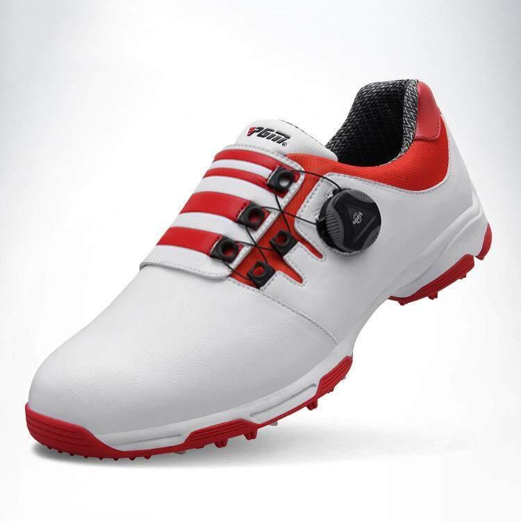 Ukuran 39-45 Sepatu Golf Pria Tahan Air Olahraga Sepatu Tombol Sepatu  Gesper Lapisan Mesh 5a90dc9669