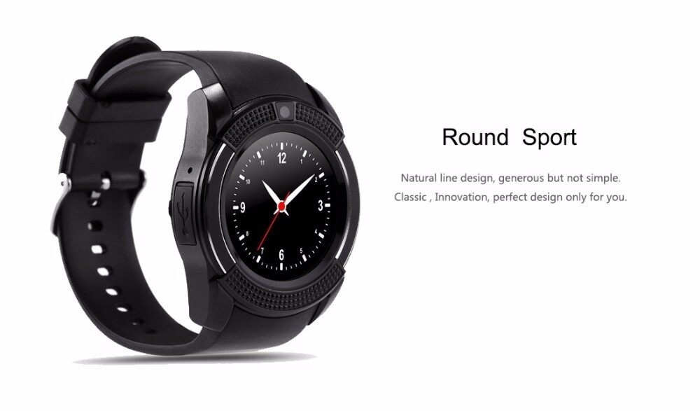 V8 Smartwatch (Life waterproof) Sim Card Support/Bluetooth/MMC Card for  Android and IOS (Fast Delivery) New Model