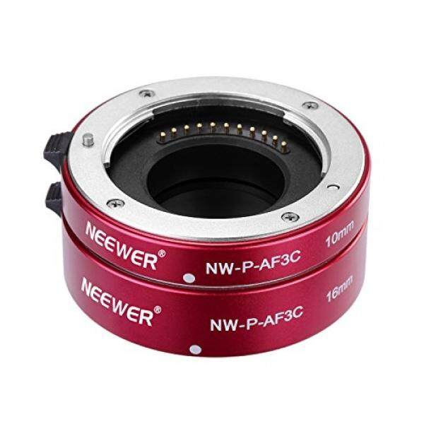 Neewer All-Metal Auto Focus Macro Close-up Extension Tube Set 10mm,16mm for Micro Four Thirds(Micro-4/3, MFT) Mirrorless Cameras, fits Panasonic G1 G2 G3 G10 GH1 GH2 Olympus E-P1 E-P2 E-P3 E-P5 E-PL1