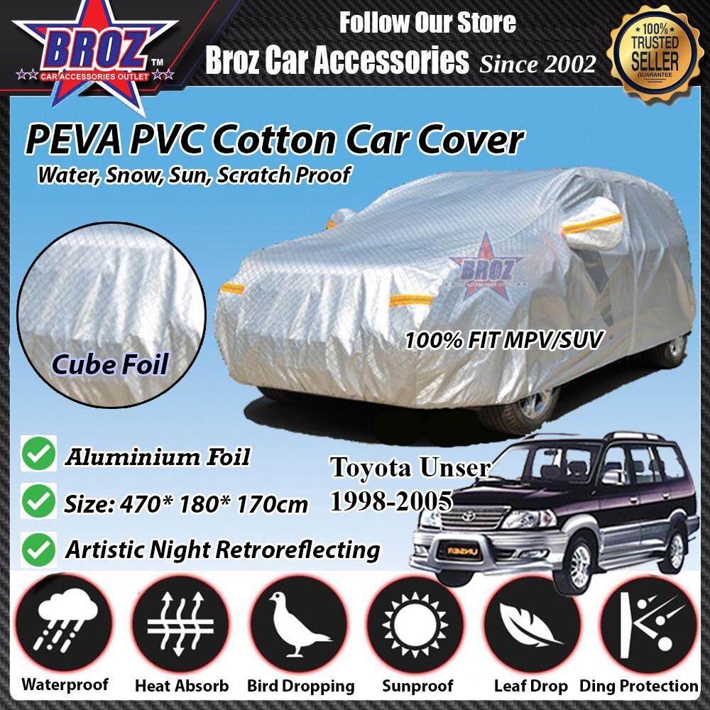 Toyota Unser Car Body Cover PEVA PVC Cotton Aluminium Foil Double Layers - MPV
