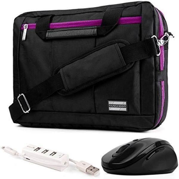 EL Prado 3-in-1 Hybrid Purple Trim Laptop Bag w/ Wireless Mouse and USB HUB for HP Omen / ENVY / Pavilion / EliteBook / ProBook / Spectre / Stream / ZBook / Mobile Thin Client