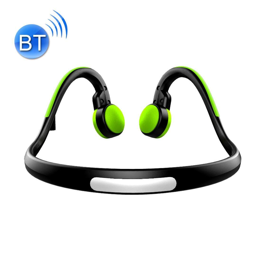 BT-BK Bone Conduction Bluetooth V4.1+EDR Sports Over the Ear Headphone Headset with Mic, For iPhone, Samsung, Huawei, Xiaomi, HTC and Other Smart Phones or Other Bluetooth Audio Devices(Green)