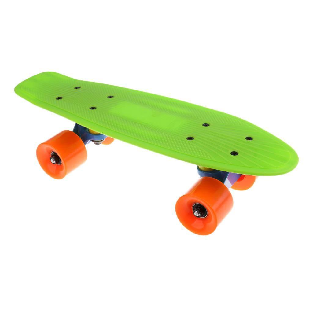 cde7af3bbf MagiDeal Professional Kids Youth Skateboard Complete Wheel Trucks PP Skate  Board 17