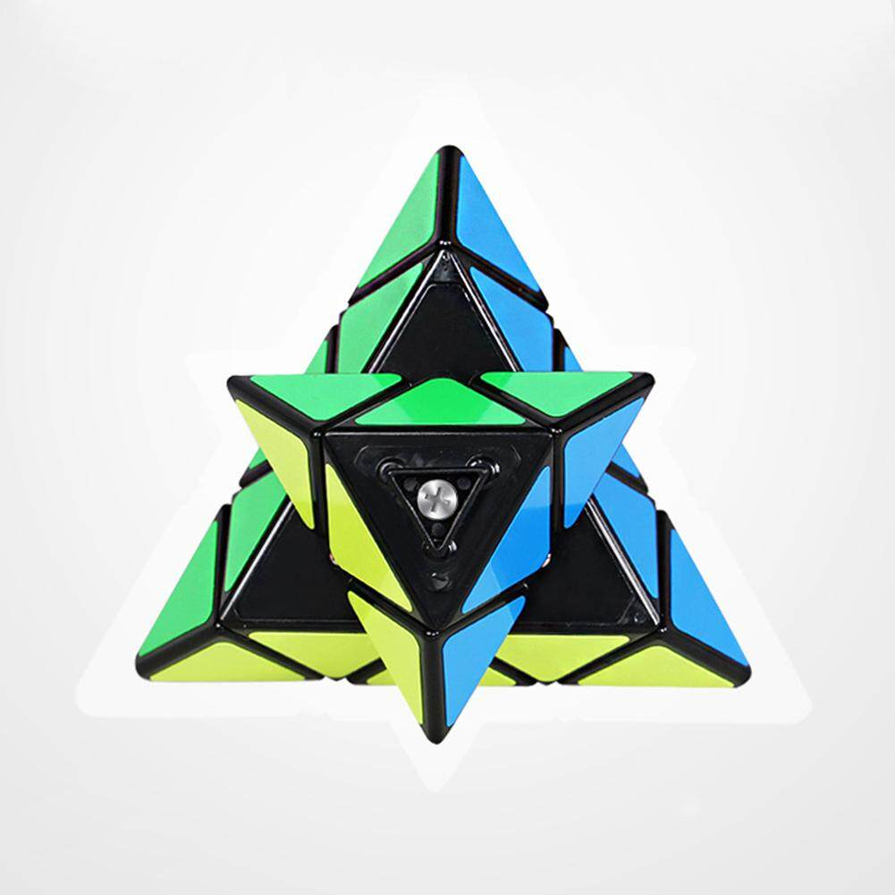 Detail Gambar TP 3X3 Bentuk Piramida Portable Rubik Otak Kreatif Relief Stres Kecerdasan Anak Mainan Puzzle