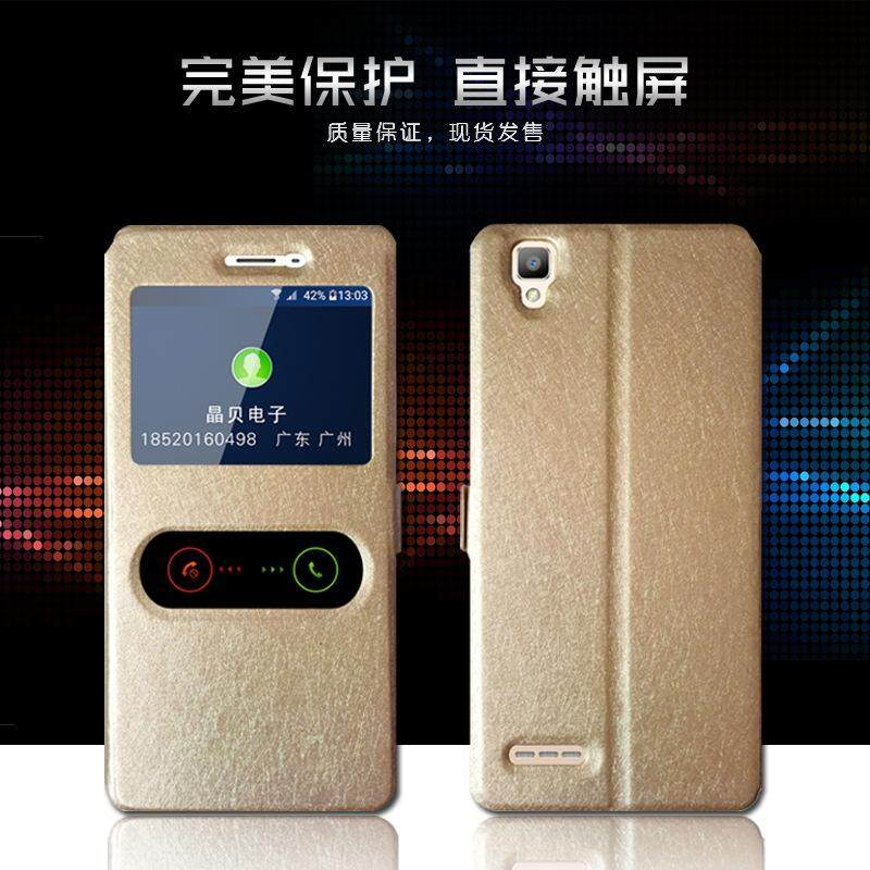 Features 1 Pc Lot For Oppo F1 A35 Case Quick View Open Window Flip