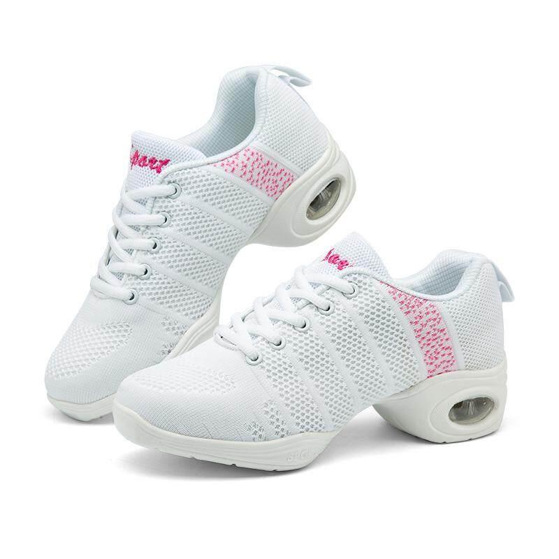 Baru Lembut Outsole Nafas Menari Sepatu Wanita Jaring Fitur Menari Sneakers Jazz Panggul Hop Sepatu Wanita