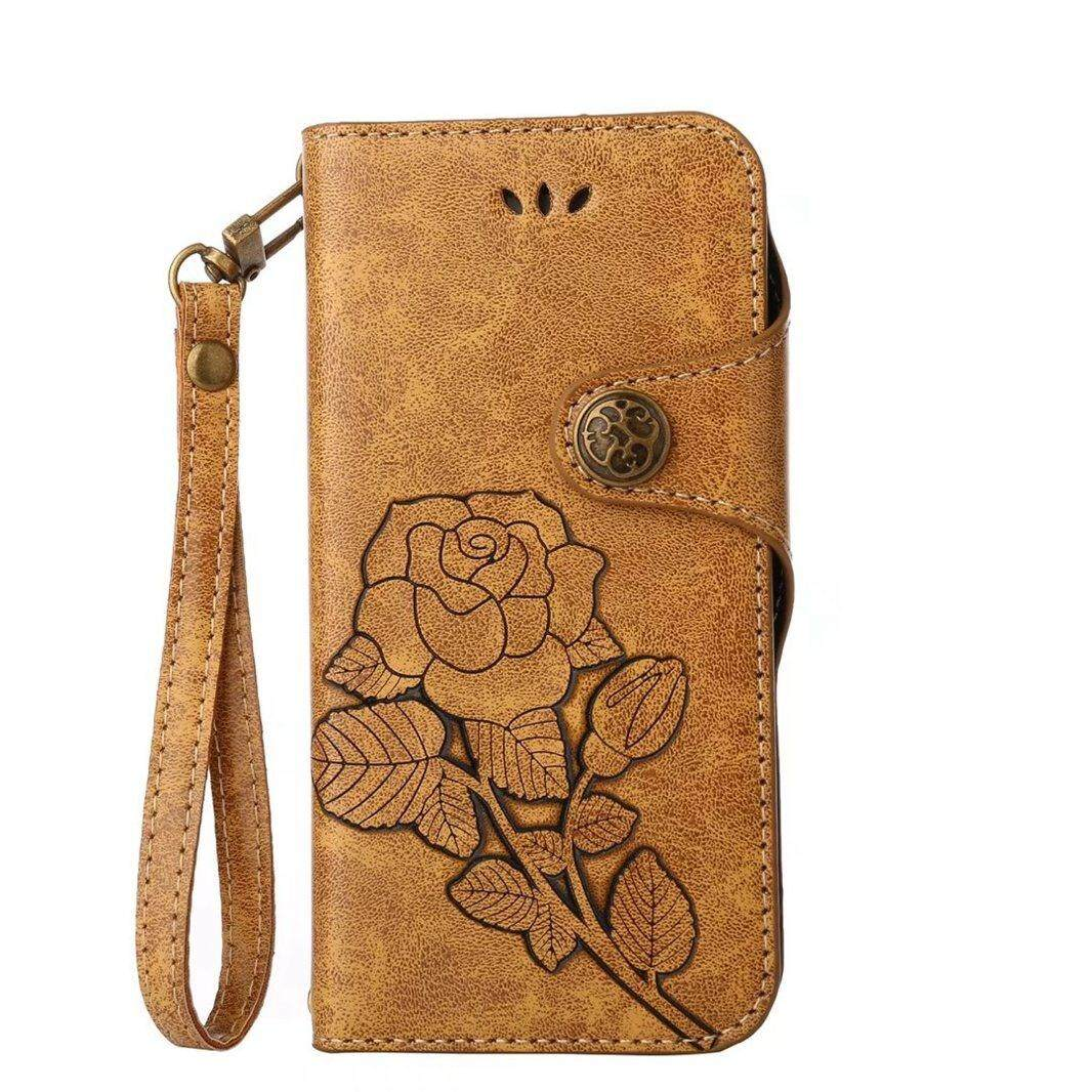 Detail Gambar High Quality Pink Rose Leather Flip Wallet Stand Case Cover For Samsung Galaxy S7 Edge - intl Terbaru