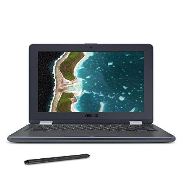 ASUS Chromebook Flip C213SA-YS02-S with Stylus EMR Pen, 11.6 inch Ruggedized & Spill Proof, Touchscreen, Intel Dual-Core N3350, 4GB DDR4 RAM, 32GB Flash Storage, USB Type-C, Supports Android Apps - intl