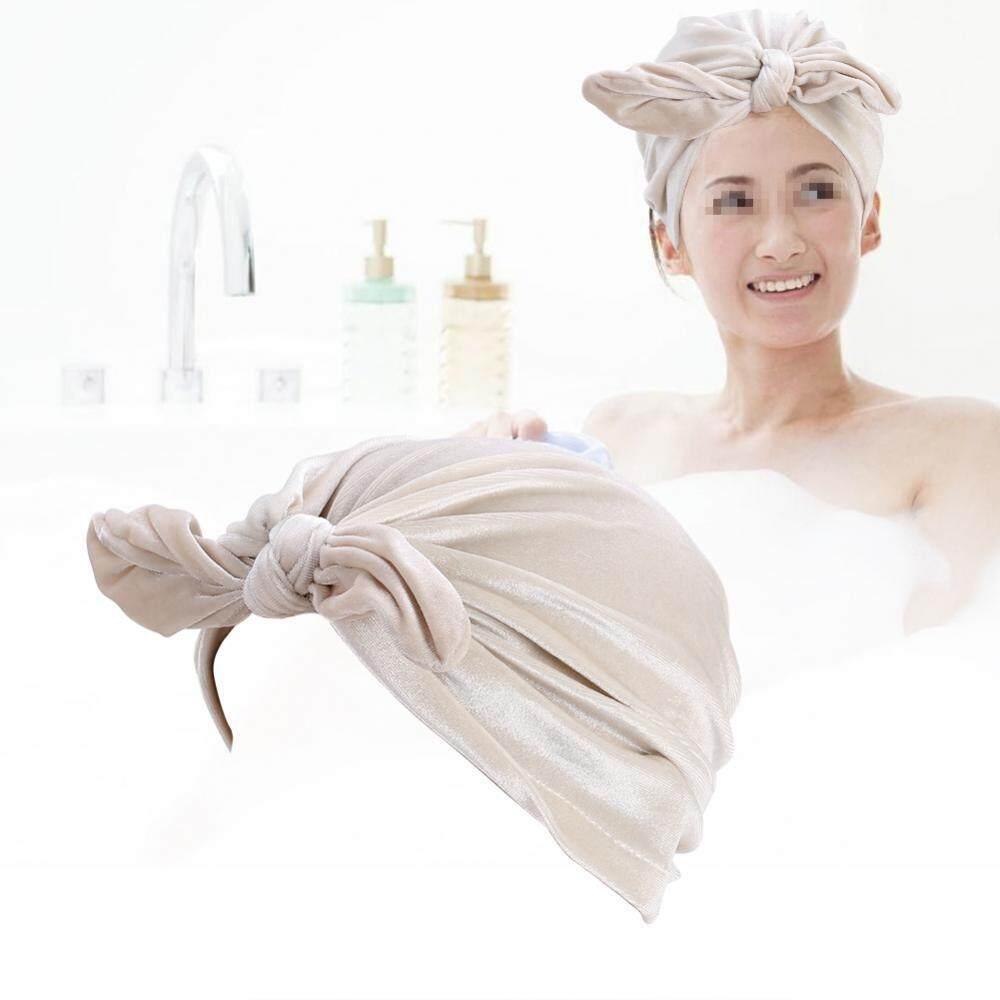 Putih Hot Musim Dingin Baru Beludru Kelinci Telinga Topi Sorban Wanita  Beludru Yang Lembut Topi Chemo 934d63733e