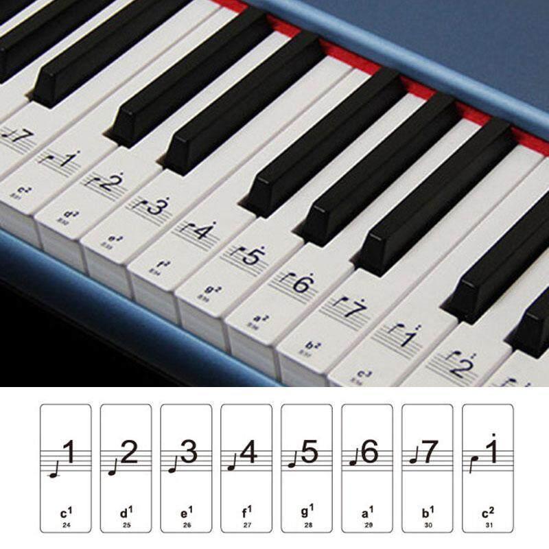 Keyboard or Piano Laminated Sticker Set Kit Educational Toys 88 Keys Removable Malaysia