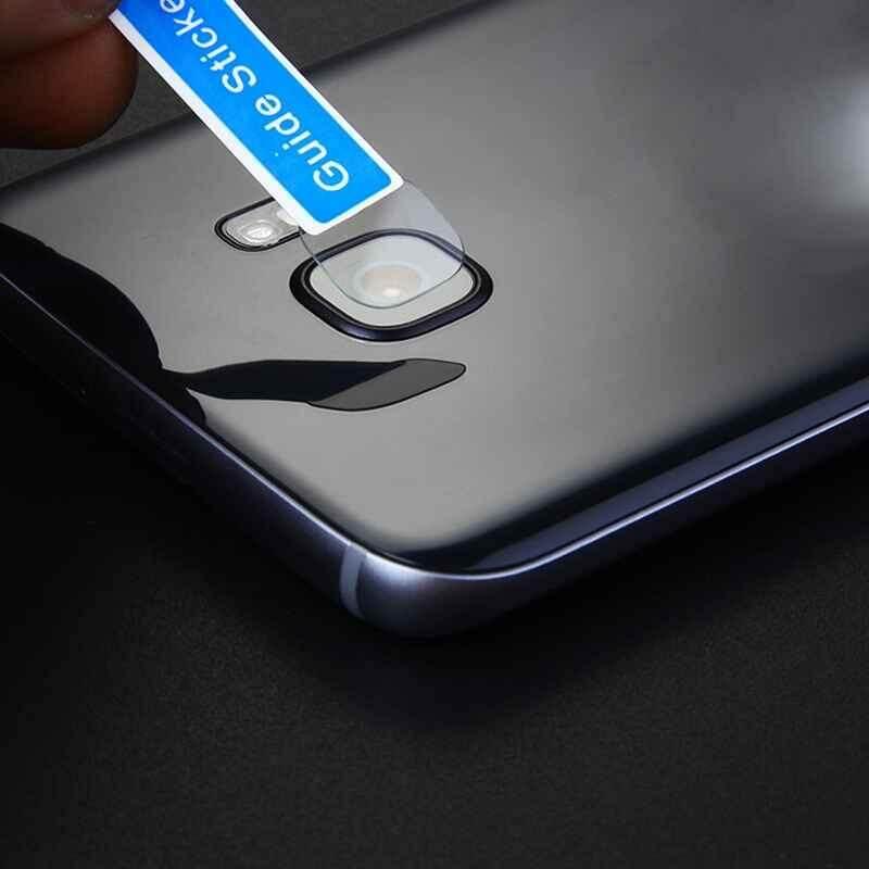 Habuy Anti-sidik Jari Ultra-tipis Lembut Kaca Melunakkan Kamera Lensa Pelindung untuk Samsung S8/S8Plus/S7 sisi (Jelas) -Internasional