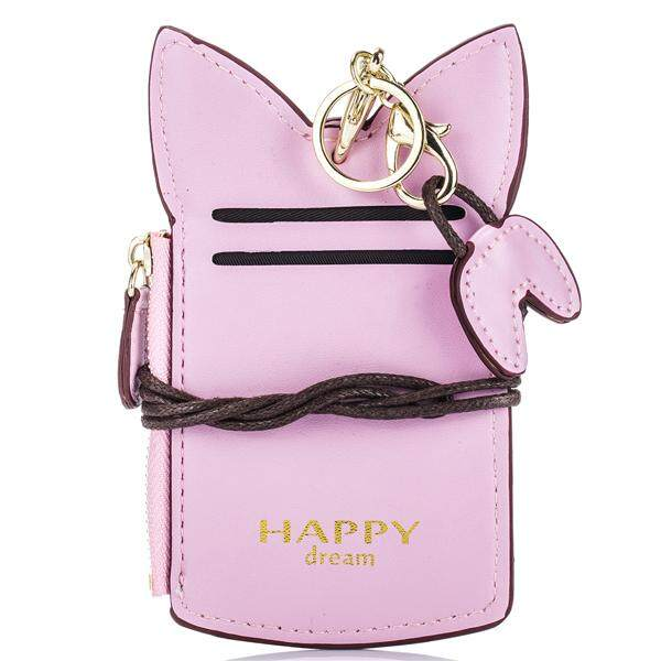Cute Animal Shape Card Holder Women Bag Pink By Moonbeam.