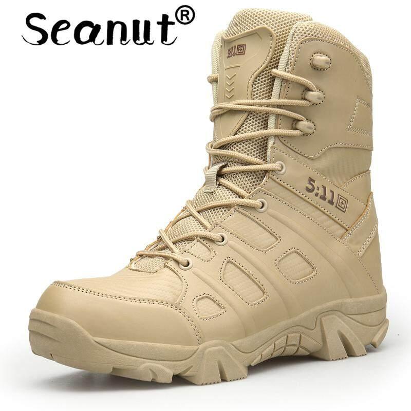 รองเท้า Seanut รองเท้าบูทบุรุษสวมใส่ลื่นรองเท้าทหารกันน้ำกลางแจ้งปีนเขารองเท้าผู้ชายเดินป่า By Seanut.