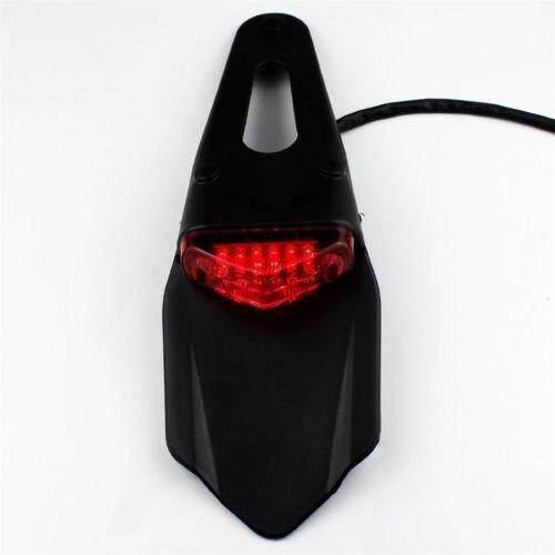 OS LED Motor Merah Lampu Belakang untuk Sepeda Motor Trail Jalan Mobil Aksesoris Motor
