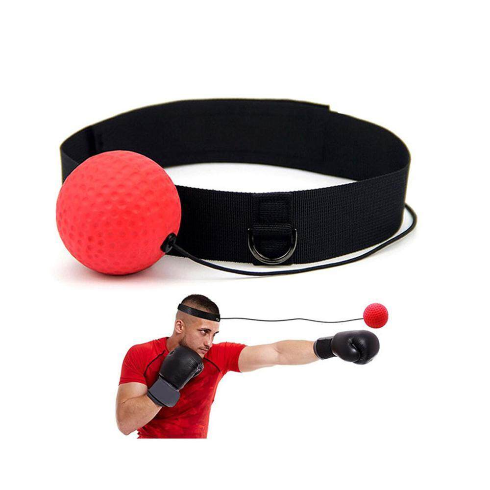 Orzbuy Boxing Reflex Ball With Hand Wraps - Fight Ball Boxing Equipment, Pro Reflex Boxing Trainer For Shadow Boxing, Speed Training, Punching Speed Ball Boxing Set With Adjustable Head Band & String By Orzbuy.