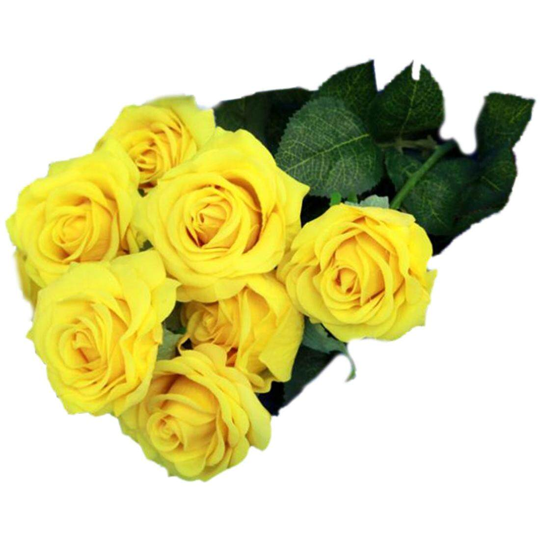 10 pcs Latex Real Touch Rose Decor Rose Artificial Flowers Silk Flowers Floral Wedding Bouquet Home