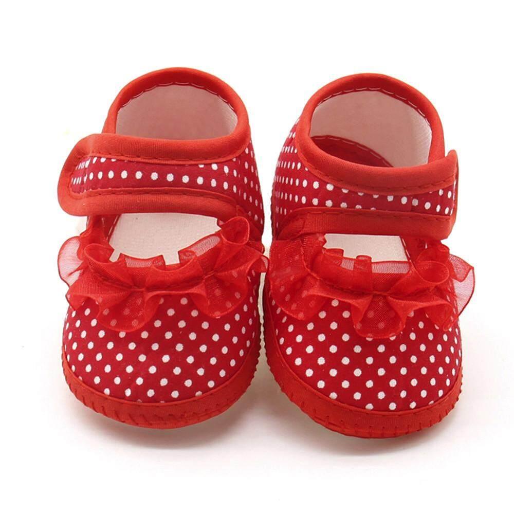 Cocol Max Bayi Bayi Baru Lahir Dot Renda Gadis Alat Jalan Tapak Kaki Lembut Hangat Sepatu Datar Kasual Sepatu By Cocolmax.