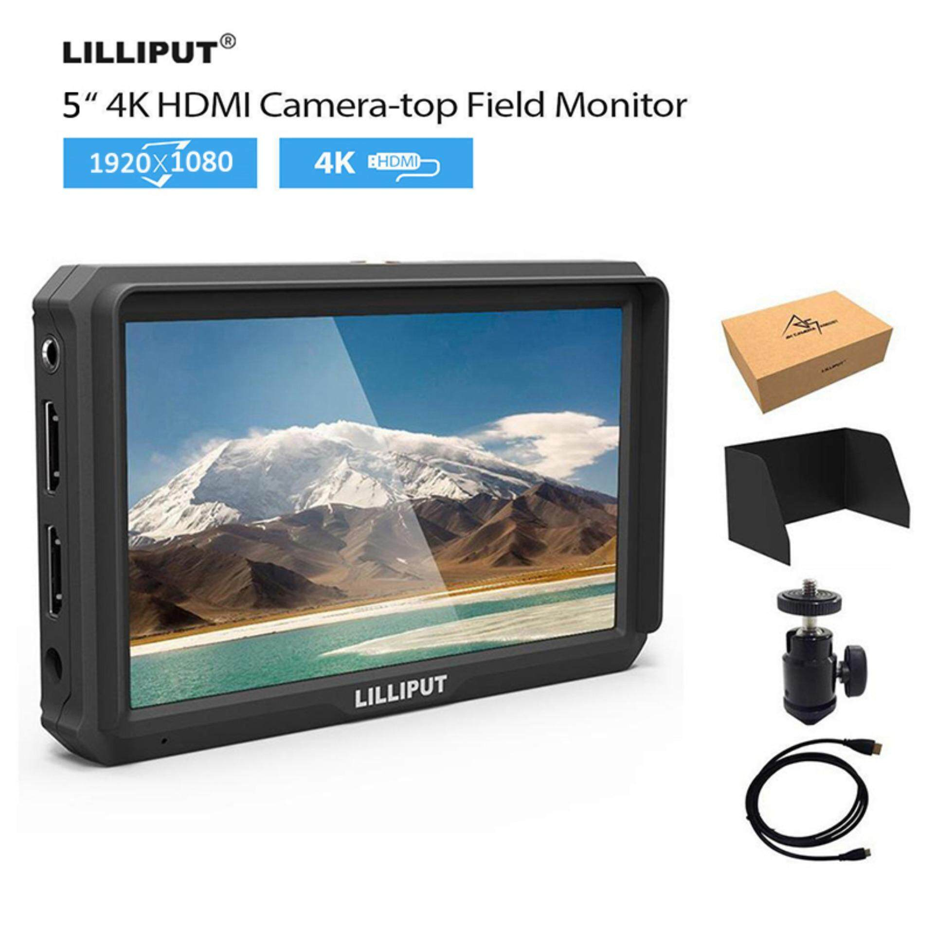 LILLIPUT A5 5 1920x1080 IPS Camera Monitor 4K HDMI For A7S A6500 GH5 5D Mark IV Malaysia