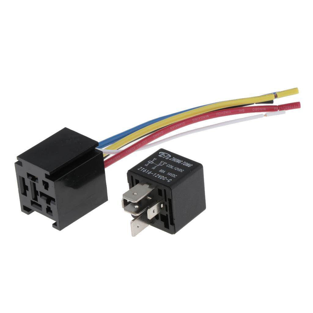 Car Relays For Sale Automotive Online Brands Prices Spdt Solid State Relay 12v Miracle Shining 80a 5 Pin Wires Cable Socket Harness Sockets Dc Auto