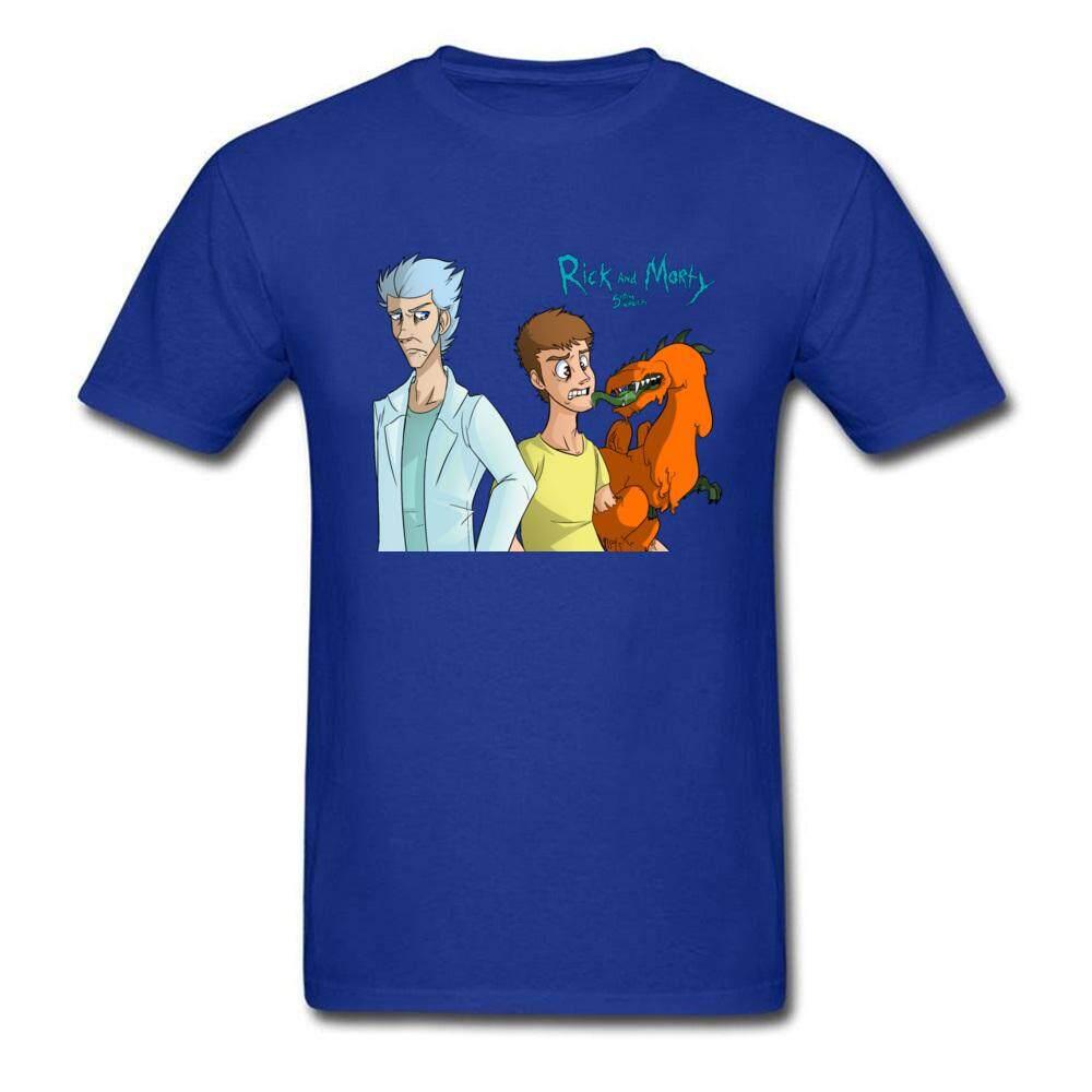 DIY Horor Naga Kaus Sablon Komik Kartun Pria Baju Lengan Pendek Katun Merek Ramping Pas Badan Top T-shirt Rick Morty Anime T Shirt-Intl
