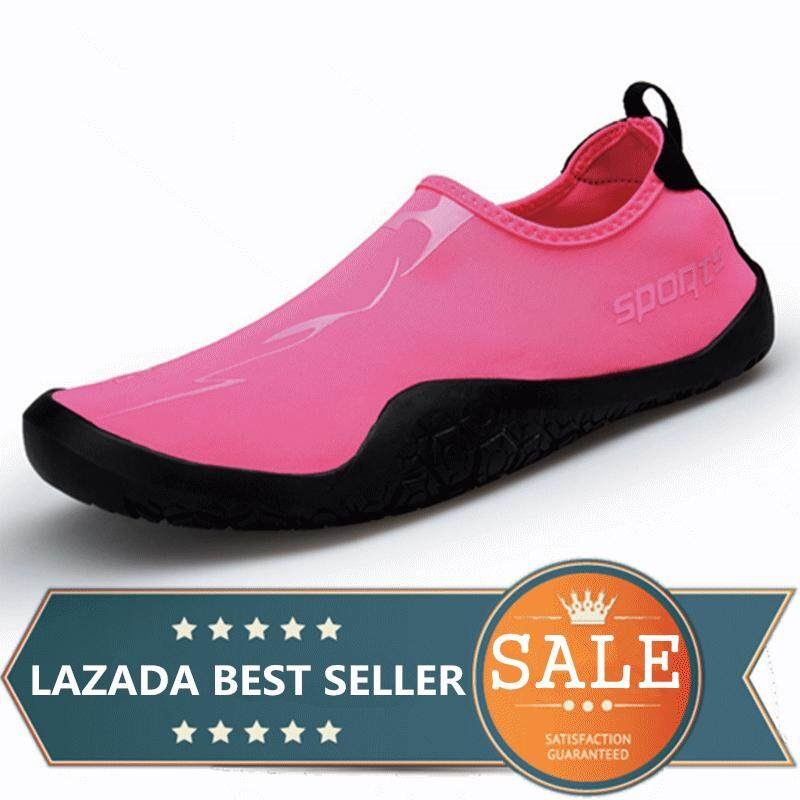 Men And Women Beach Shoes Outdoor Swimming Water Shoes Lover Yoga Shoes Size (pink) By Taishanzhishi.
