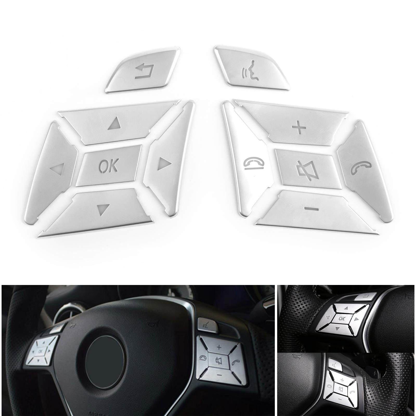 Areyourshop Steering Wheel Button Silver Trim For Mercedes Benz E C G Class W204 2012-2016 By Areyourshop.