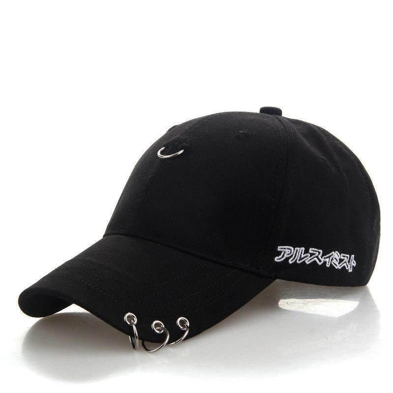 Pria Topi Snapback Lampu SMD LED Fashion K Pop Besi Cincin Dapat Disesuaikan Topi Topi Bisbol