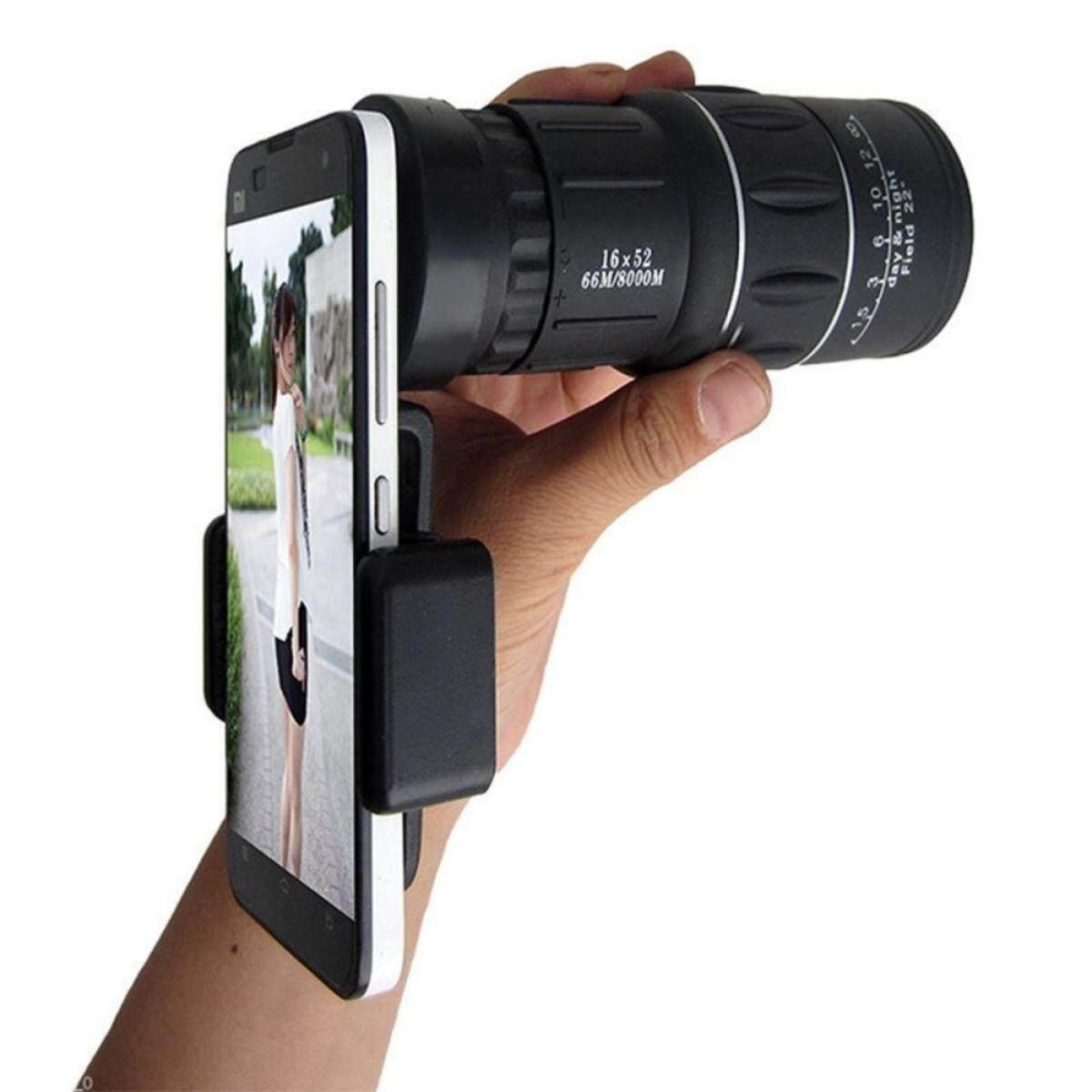 Cenblue 16x52 Zoom Dual Monokuler Fokus Lensa Teleskop Kamera 66 M/8000 M Hd Scope + Tempat Ponsel By Cenblue Story.