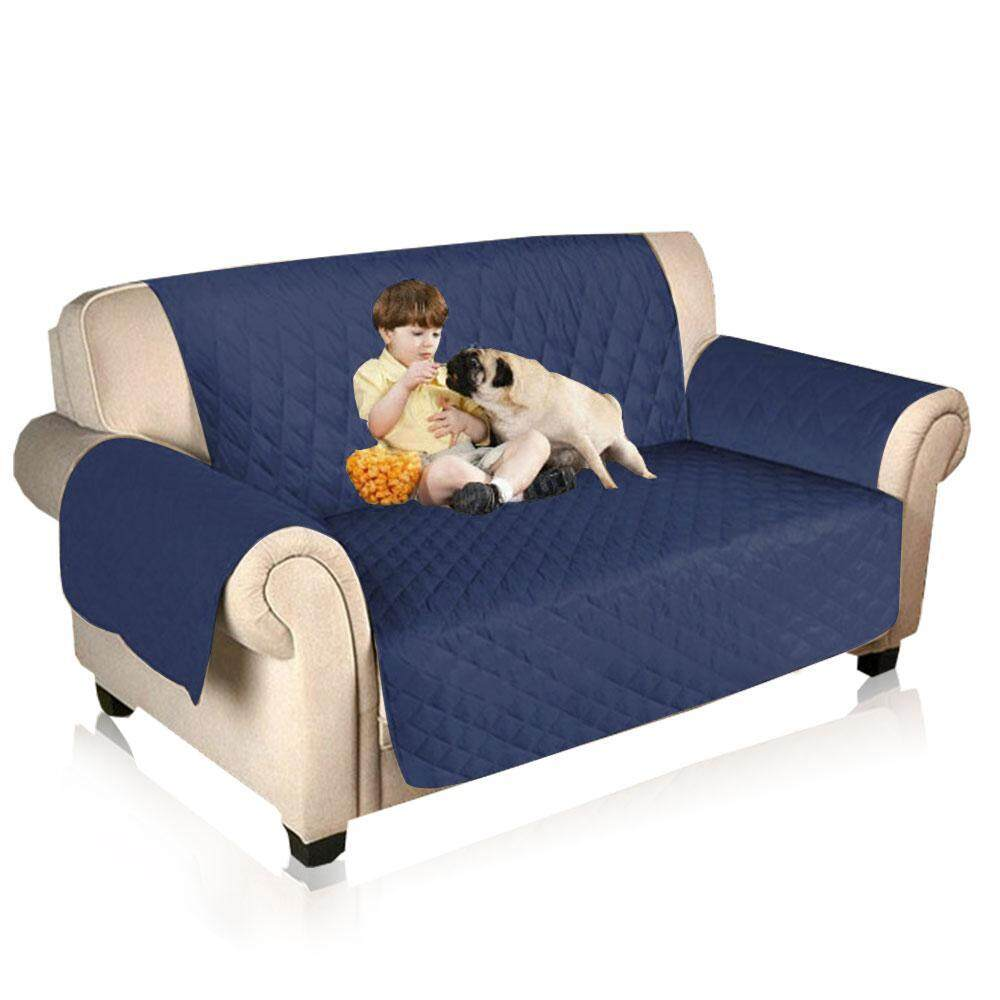 Pawaca Sofa Slipcover, Original Reversible Sofa Slipcover Cover Furniture Protector, Loveseat Quilted with 2 Thick Straps Waterproof, Anti-Slip, Washable Couch Cover for Pets Dogs Kids