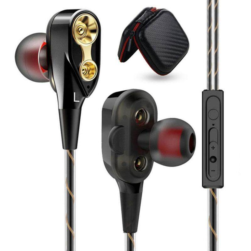 niceEshop In-Ear Headphones with Microphone,HIFi Stereo Explosive Bass Headsets For IPhone Android Samsung IPad Tablet Laptop Singapore