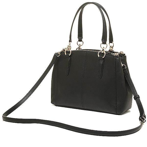 1fd939b5 Coach Crossgrain Leather Mini Christie Carryall Crossbody Shoulder Bag  Black F36704