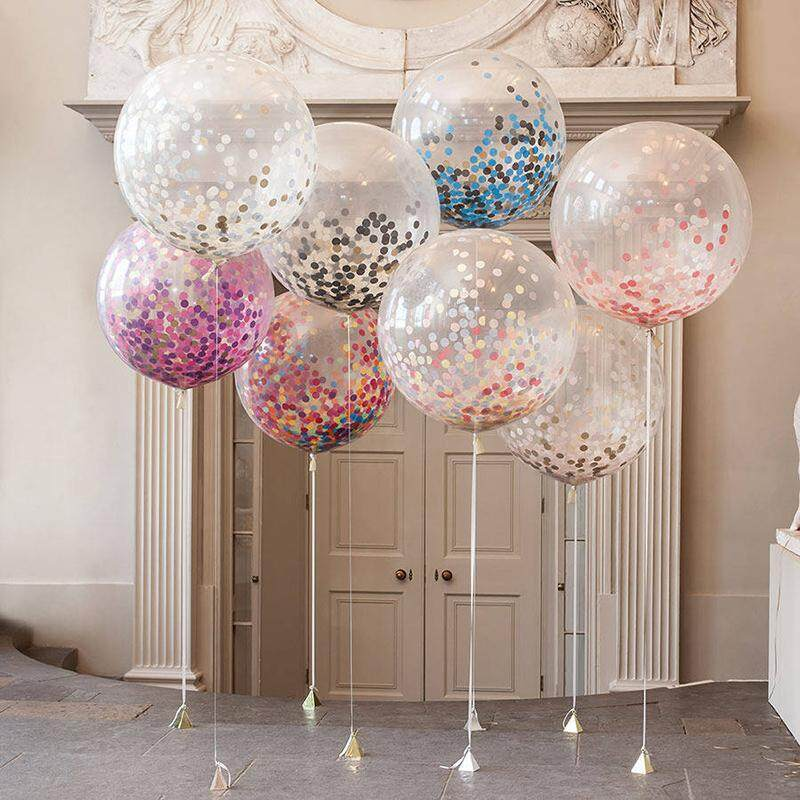 36 Inch Giant Clear Balloon Confetti Inflatable Wedding Party Supplies Brithday Decoration