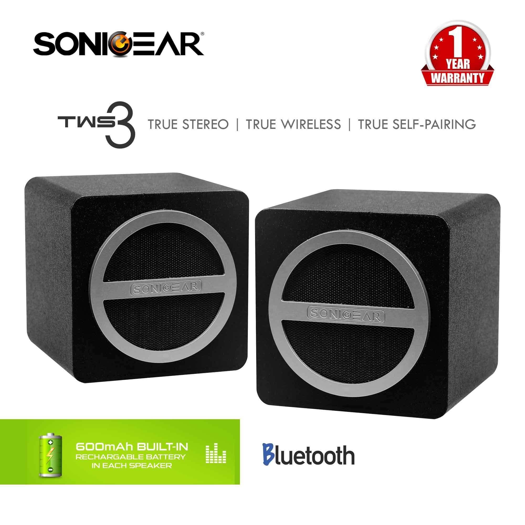 TWS 3 True Stereo Wireless (Self-Pairing) Speaker System By SonicGear