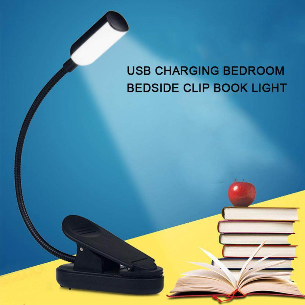 Book Lights Reading Light Usb Rechargeable Led Desk Lamp Study Flashlight Home Decor Piano Torch Music Stand Night Lamp Led Clip Booklight Attractive And Durable
