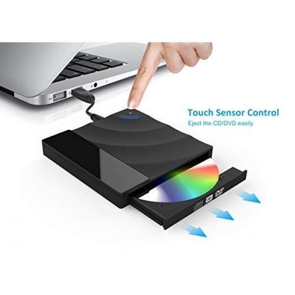 Komponen Eksternal USB 3.0 Eksternal DVD Drive, valoin SUPER SLIM Kecepatan Tinggi Kendali Sensor Sentuh Eksternal DVD Alat Penulis Data Ke Piringan Penyimpanan Data SuperDrive untuk MacBook/Komputer PC/Laptop/Desktp, mendukung Windows/Linux/MAC OS-Intl