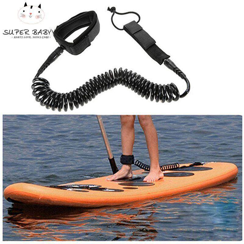 Mã Giảm Giá tại Lazada cho SBY 10ft Surfboard Ankle Leash Rope Coiled Stand Up Paddle Board Surfing Cord String