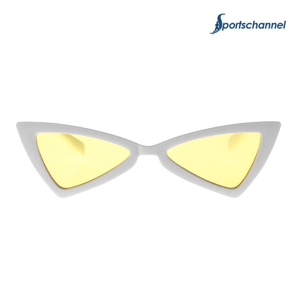 Personalized Wanita Segitiga Kreatif Bingkai Kacamata Hitam Uv Perjalanan Matahari Kacamata-Internasional By Sportschannel.
