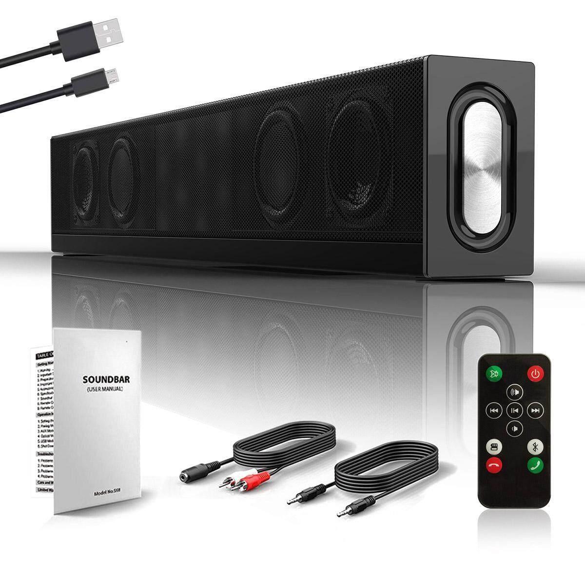 Niceeshop Desktop Bluetooth Speakers Wireless Soundbar Speaker For Tv  Tablet Computer Laptop And Smartphone