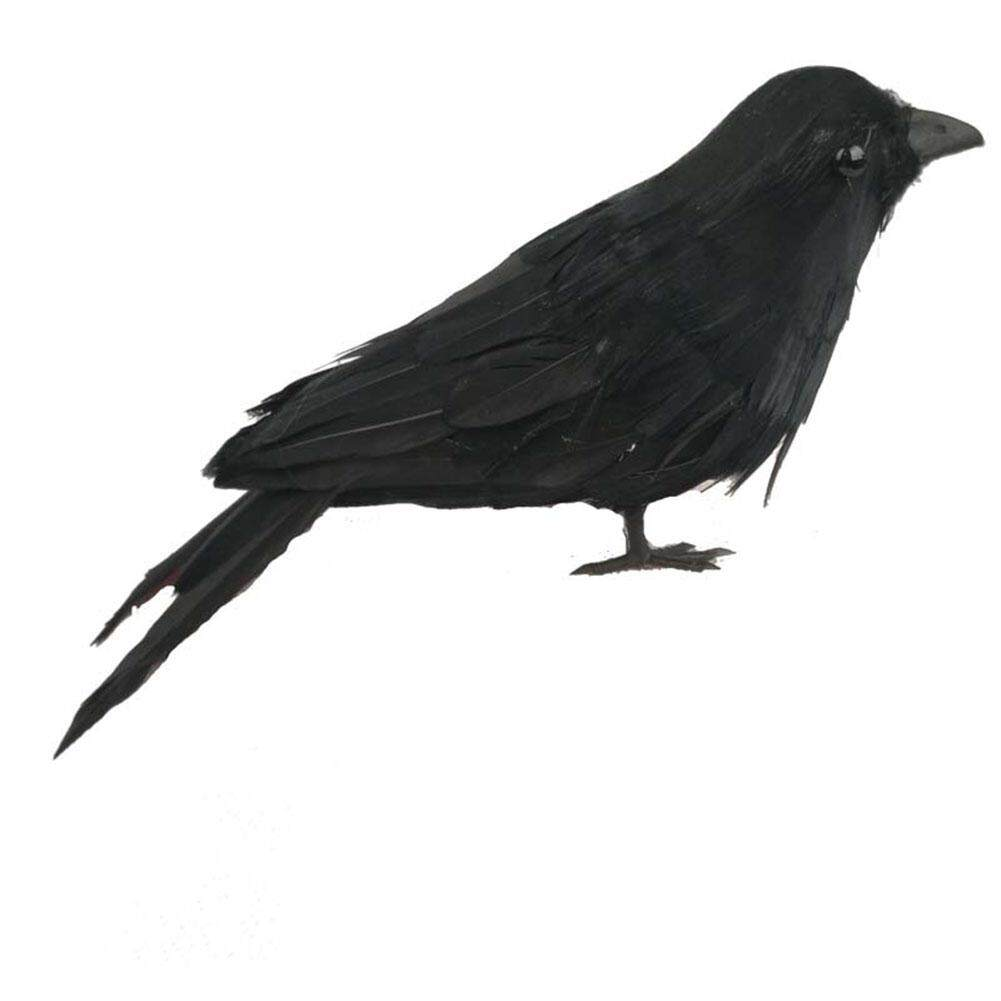 LB High Simulation Mini Realistic Crows Props Perfect Halloween Scene Decoration