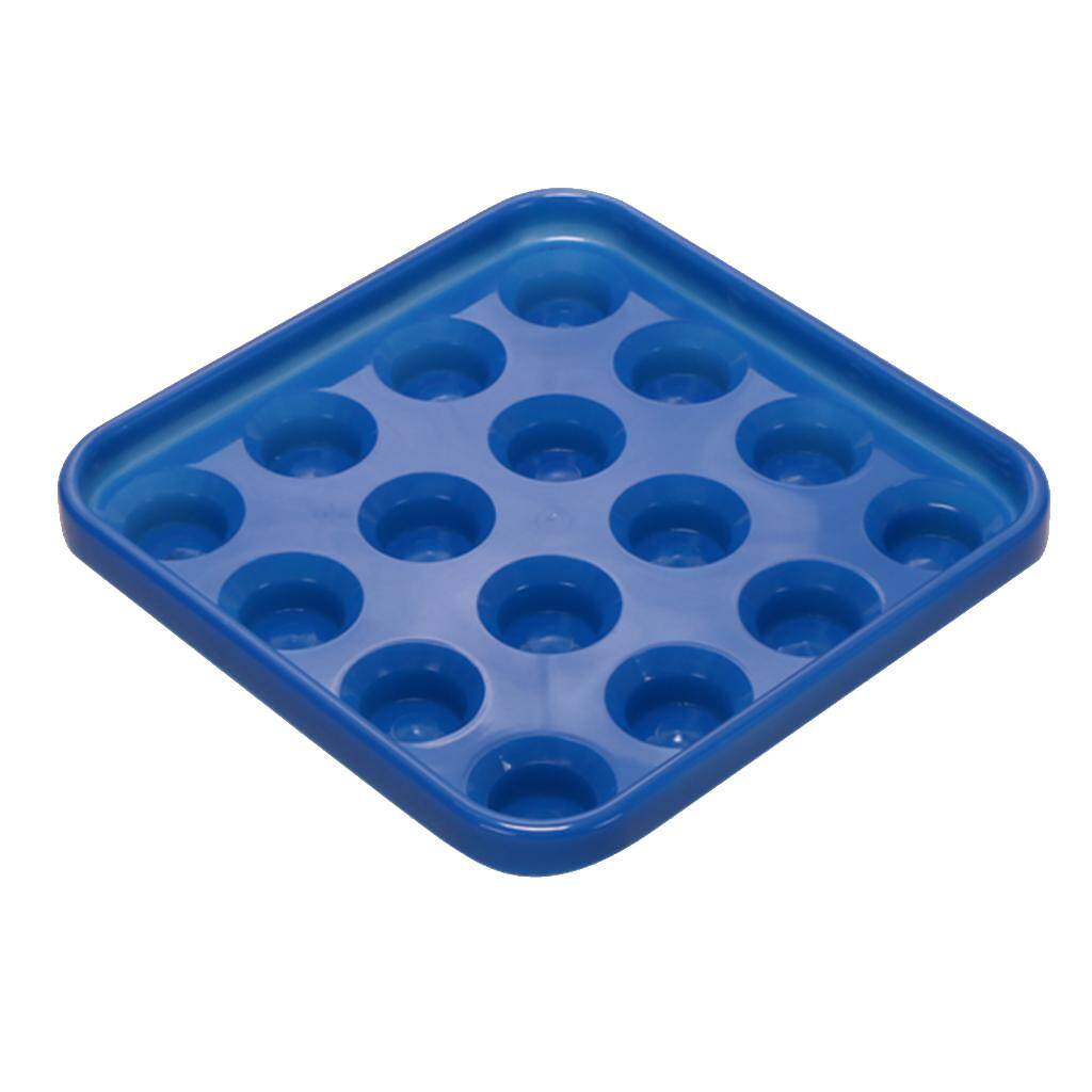 Miracle Shining Durable Plastic Snooker Or Pool Ball Tray Holds 16 Balls Blue.