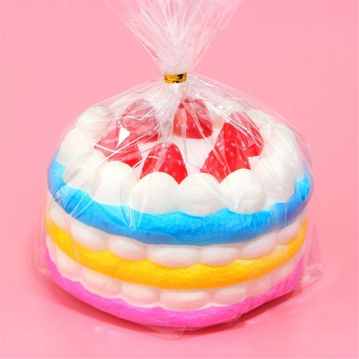 Squishy Cake Strawberry Kue Tart Jumbo Murah Daftar Harga Terkini Mao Rusa Detail Gambar Rainbow Birthday Cream Super Slow Rising Scented Terbaru