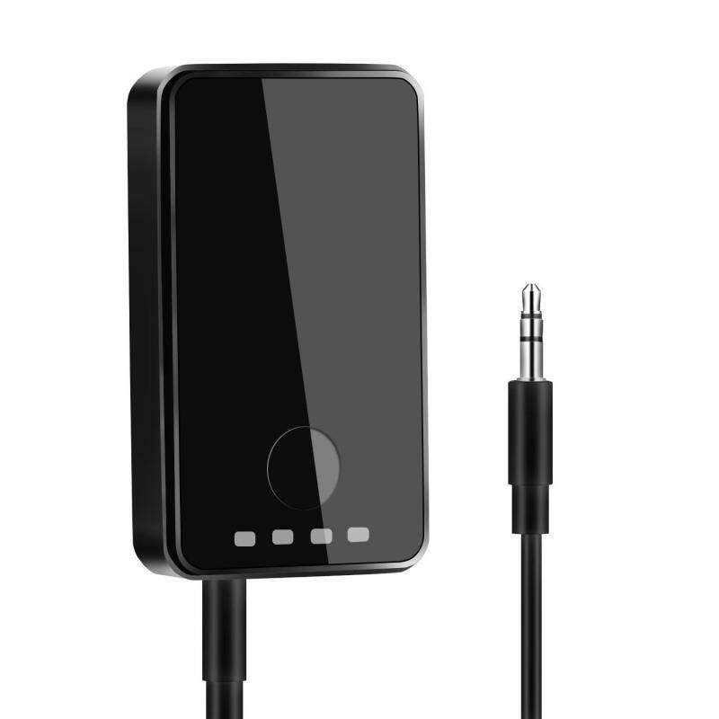 niceEshop Bluetooth 4.1 Transmitter And Receiver, 2-in-1 Wireless 3.5mm Adapter (aptX Low Latency, 2 Devices Simultaneously, For TV/Home Sound System) Singapore