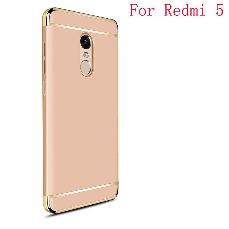 3 NI 1 Shockproof PC Case Electroplate Full Cover Phone Case For Xiaomi Redmi 5