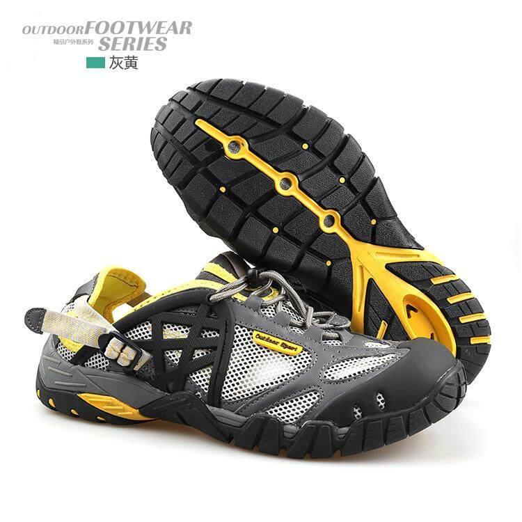 2018 Pria Sepatu Sneaker Outdoor Berpori Sepatu Mendaki Ukuran Besar Pria Wanita Outdoor Sandal Naik Gunung Pria Trekking Trail Air Sandal