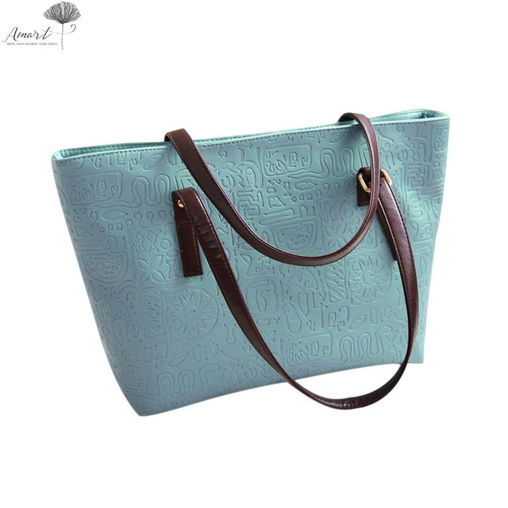 กระเป๋าเป้ นักเรียน ผู้หญิง วัยรุ่น มหาสารคาม Amart Fashion Women Handbag PU Leather Single Shoulder Bag Large Capacity Tote Bags