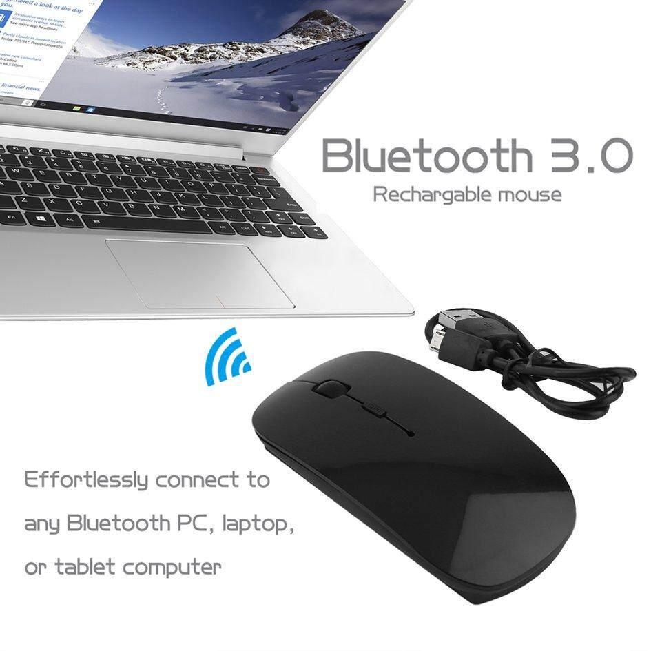 O Isi Ulang Portabel Bluetooth 3.0 mouse Nirkabel For Laptop PC Tablet Hitam