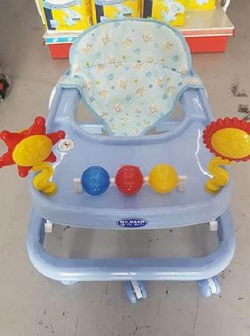 My Dear 8 Wheel Baby Walker with Toy Bar & Basic Music