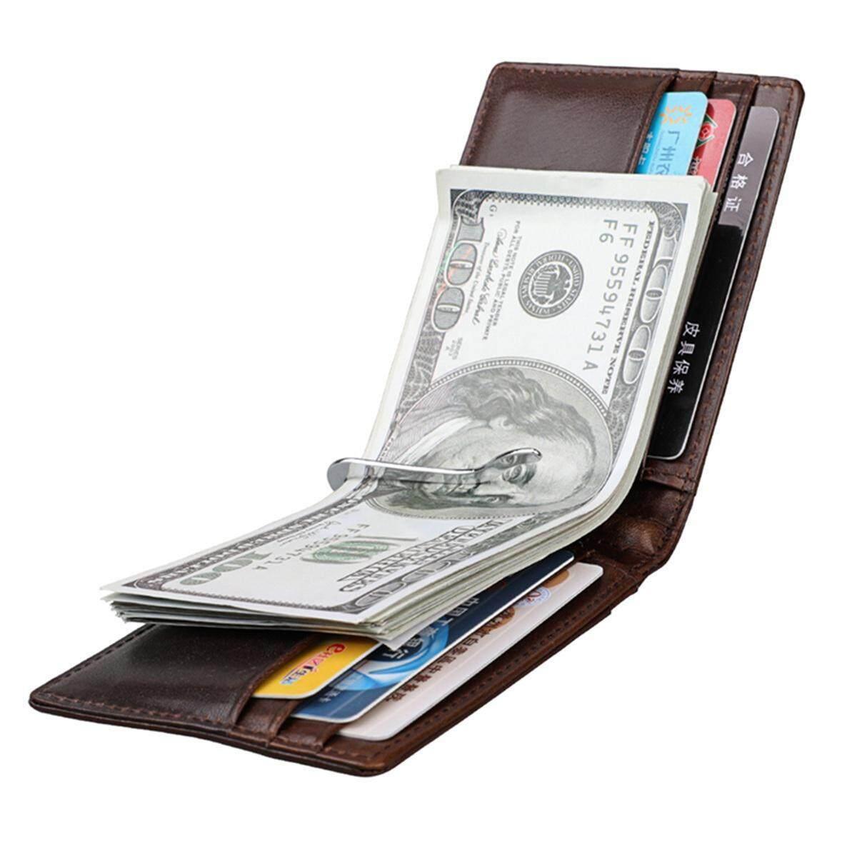 Teekeer Teekeer Men RFID Blocking Short Wallet Genuine Leather Wallet